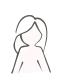 3-geteilter Schal Blätter, große Blätter, Palmen-Blatt