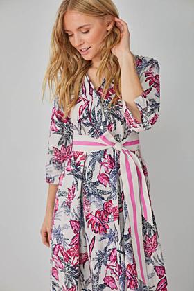Kleid mit Botanik Druck