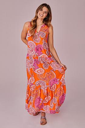 Kleid mit Paisley Druck