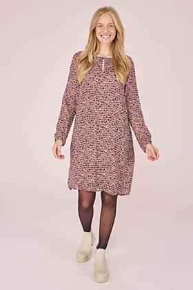 Kleid V-Ausschnitt kleines Pfauenauge