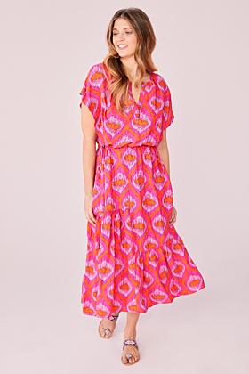 Kleid mit Ikat-Druck