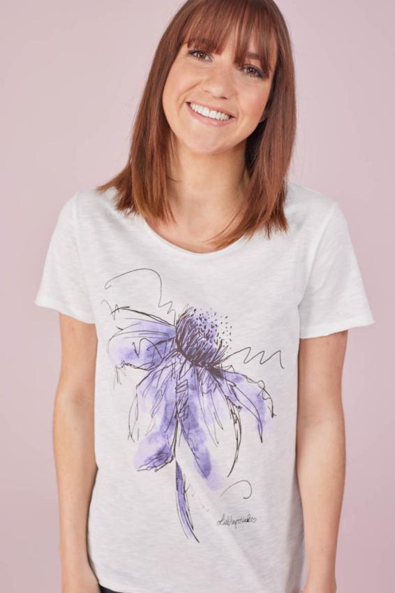 T-Shirt Auarell Blume
