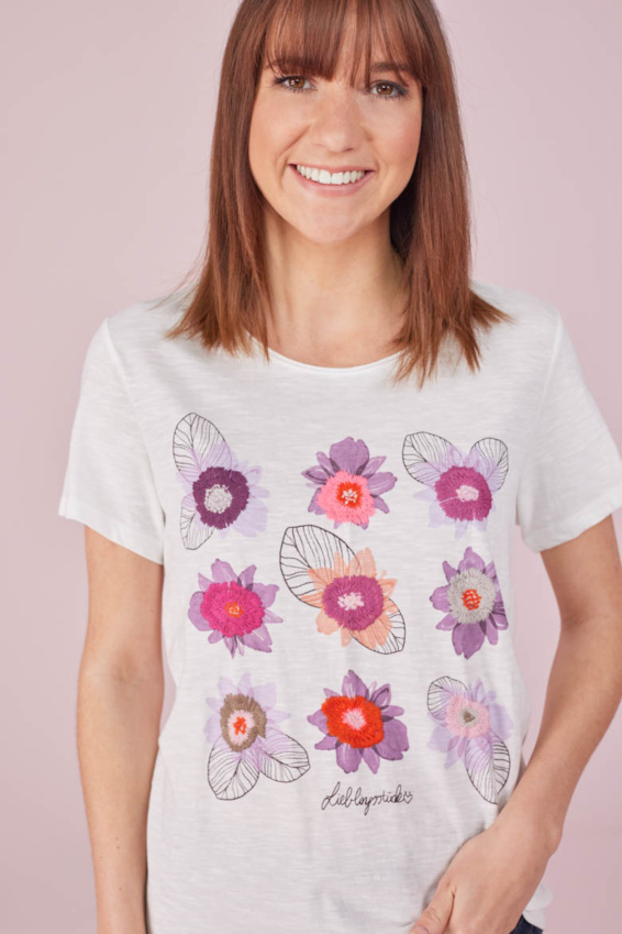 T-Shirt Blumenmotiv