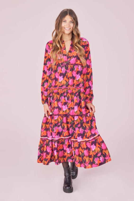 Kleid Herbstblüten