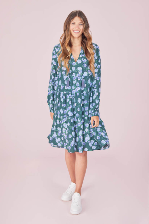 Kleid Aquarell Blumen